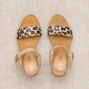 Sandalett djurmönster 8 cm klack