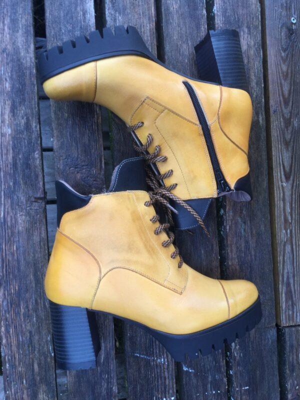 gula kängor läder coola